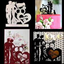 Couples Wedding Metal Stencil Cutting Dies Scrapbooking Craft Stamping Template