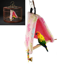 Bird Parrot Plush Hammock Cage Happy Hut Tent Bed Hanging Cave Swing Toys New