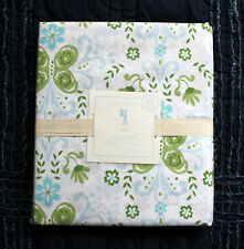 NEW Pottery Barn Kids Green Blue IVY DAMASK Floral Organic Duvet Cover Twin