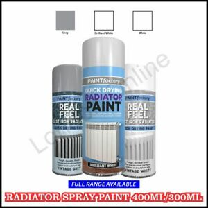 Spray Paint Cast Iron Radiator Aerosol Vintage Grey, White Indoor Outdoor 400ml
