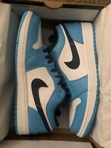 Nike Air Jordan 1 Low AJ1 UNC Blue-Obsidian White Men Size 10 553558-144 DS 2021
