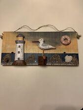 Nautical Wall Decor, Repurposed, beach decor, light house, ocean,coastal decor