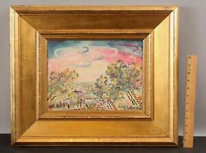 CHARLES BURCHFIELD Modernist Gouache Country Cabin Landscape Gouache Painting