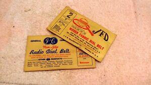 Zenith  Radio Dial Belts  NOS   JFD   GC