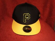Pittsburgh Pirates 5950 New Era Fitted Hat Black Gold Low Profile NWT With Tags
