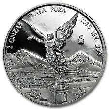 2015 Mexico 2 oz Silver Libertad Proof (In Capsule) - SKU #87953