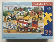 Castorland Puzzle, Construction Site, 35 piece Jigsaw/Puzzle, 4+, NEW-SEALED