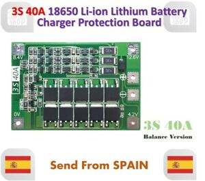 Balance Versione 3S 40A 11.1V 12.6V 18650 Lithium Battery Protection Board Bms