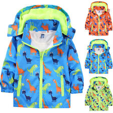 Kids Boys Toddler Hooded Coat Printed Zip Hoodie Jacket Outwear Winter Clothes
