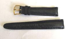 New Hadley Roma genuine lizard leather black watch band 18mm