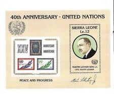 Sierra Leone 1985 - Scott 744 - UN Peace And Progress Martin Luther King S/S