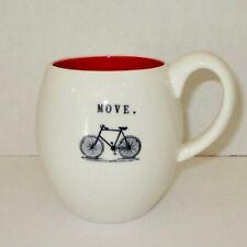 Move coffee mug tea ceramic cup Magenta bike bicycle rider cyclist cycling