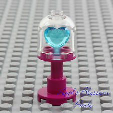 NEW Lego Princess Dark PINK DISPLAY CASE w/Belville Friends Blue Heart Jewel Gem