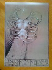 "Franciszek Starowieyski Polish Poster ""According to Tomas Mann"" 1996"