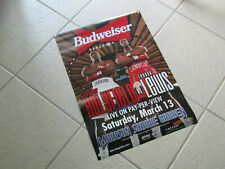 Budweiser Beer 1999 Holyfield vs Lewis 19'' x 27'' Boxing poster march 13th