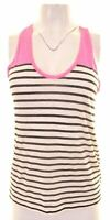 J. CREW Womens Vest Top Size 10 Small White Striped Cotton  ER39