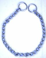 """Dog collar choke chain heavy duty Steel medium to large dogs neck size up to 20"""""""