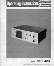 Technics SH-3433 Audio Scope Owners Instruction Manual Reprint