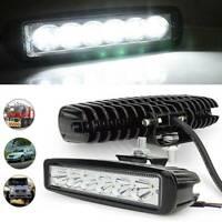 2PCS 6 LED Work Light Bar Spot Lights for Driving Lamp Offroad Car Truck SUV 18W