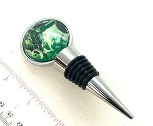 Handmade Hand painted Wine bottle stoppers unique gift ideas wearable art