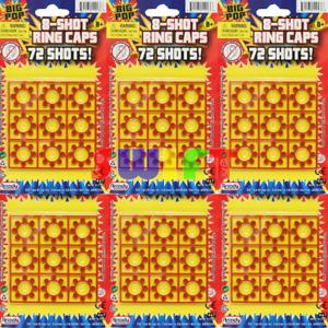 8 Shot Ring Cap 6 Cards 72 Shots 432 Shots Total