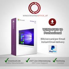 Microsoft Windows 10 Pro Win 10 Pro 32&64 Bits OEM, produktkey per email