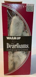 Vintage Womens Dearfoams Slippers Booties Floral Medium M 6 1/2 - 7 1/2 NOS