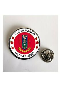 45 Commando Royal Marines Lest We Forget Military lapel pin / Key Ring /Magnet