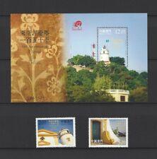 China Macau 2015 150th Anniversary of Guia Lighthouse Stamp + S/S