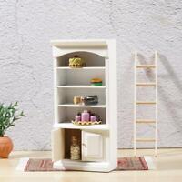 Puppenhaus Miniatur Weiß & Lila Badezimmer Regal Schrank Zoll Skala 1:12 G9P3