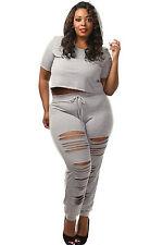 Abito Pantaloni Taglie forti Grandi Curvy Formosa Plus Size Top Pant Set XXXL