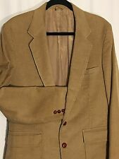 THE CORDUROY COLLECTION Sears Blazer Sport Coat Golden Brown Mens Size 40L