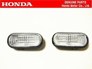 HONDA GENUINE S2000 AP1 AP2 Front Fender Side Turn Marker Lamp Light Set OEM