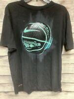 Nike Men's Black Blue Dri-Fit Basketball Graphic T-Shirt Size L Large