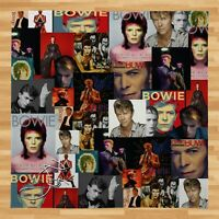Large Warm Sofa Fleece Throw David Bowie Montage Colour Soft Bed Blanket Chair