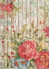 Rice Paper for Decoupage Scrapbook Craft Sheet- Painted Fence