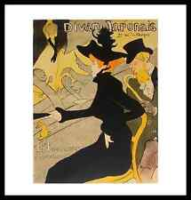 Henri Toulouse-Lautrec Divan Japonais Poster Bild Kunstdruck & Alurahmen 48x46cm