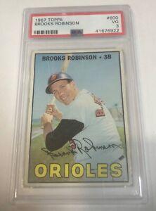 1967 Topps Brooks Robinson #600 PSA graded 3