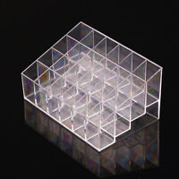 24 Clear Lipstick Acrylic Holder Display Stand Cosmetic Organizer Makeup Case
