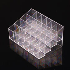 Clear Acrylic 24 Lipstick Holder Display Stand Cosmetic Organizer Makeup Case ++