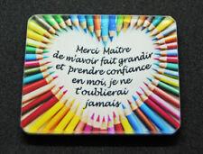 """Magnet """"Merci Maître"""" coeur crayons de couleurs cadeau fin année scolaire"""