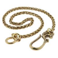 """21"""" Mens Biker Trucker Heavy Skull Long Metal Keychain Jean Wallet Chain"""