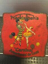 Vintage Mackintosh Tin Square Carnival Tin 1930