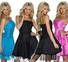 Ärmellose knielange Damenkleider aus Polyester ohne Muster