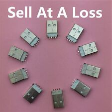 10pcs USB 2.0 4Pin A Type Male Plug Connector G48 for Data Transmission Charging