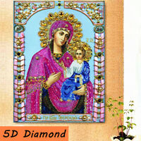 DIY 5D Religious Resin Diamond Painting Embroidery Cross Stitch Kit Home  UK
