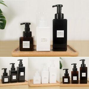 250/450/650ML PETG Plastic Foaming Soap Dispenser Lotion Shampoo Pump Bottle