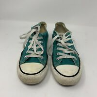 Converse green turquoise converse sneakers All Star low cut Men 6 Womens 8 lace