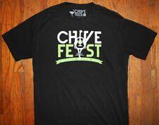 Chive Fest / Chicago Seattle Denver Dallas / Ostrich / Black Tee T-Shirt Size M