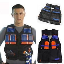 Adjustable Tactical Vest Jacket for Darts Gun Accessories Nerf N-Strike Black Q
